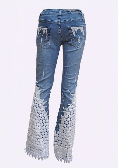 Lace Jeans SNOWFLAKE - Click Image to Close