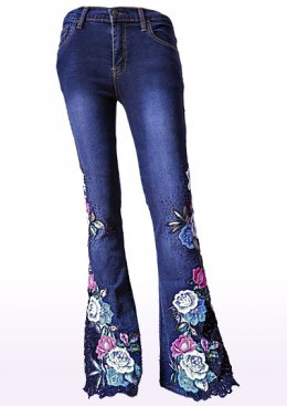 Bead Jeans BLUE ROSE
